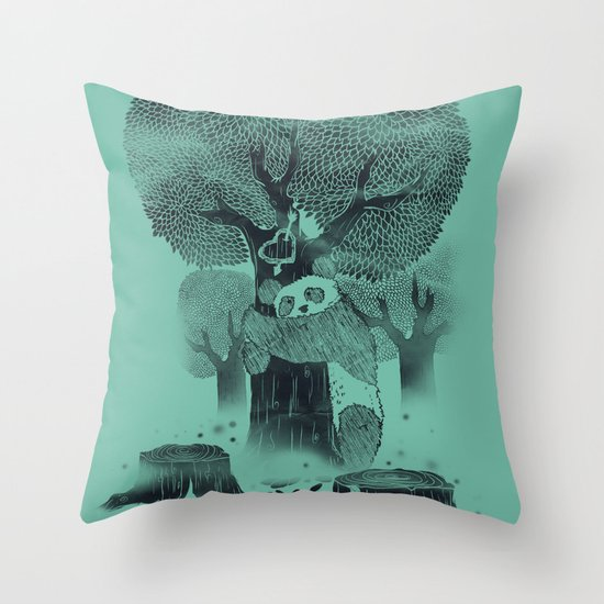 The Tree Hugger Throw Pillow