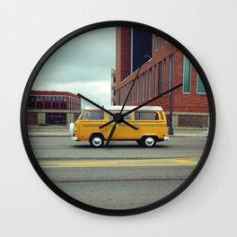 Yellow Bus Wall Clock