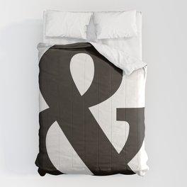 Black Ampersand sign Comforters