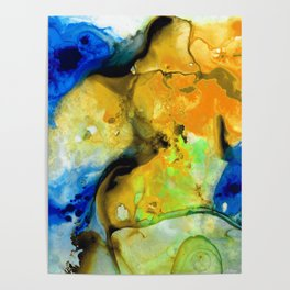 Walking On Sunshine - Abstract Painting By Sharon Cummings Poster