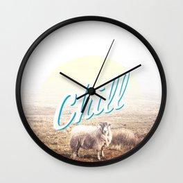 Sheep - chill Wall Clock