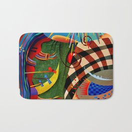 Red green transcendental abstraction Bath Mat