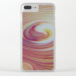 Swirly whirl 2 Clear iPhone Case