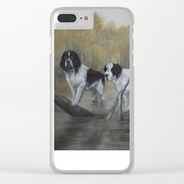 Swamp Spaniels Clear iPhone Case