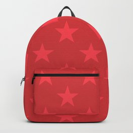 Red stars pattern Backpack