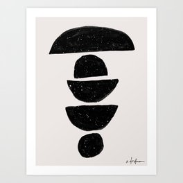 Black Rocks Art Print