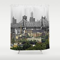 brooklyn Shower Curtains featuring Brooklyn by Mark MacPhail