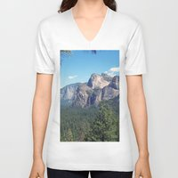 yosemite V-neck T-shirts featuring YOSEMITE  by Melissa Whitman