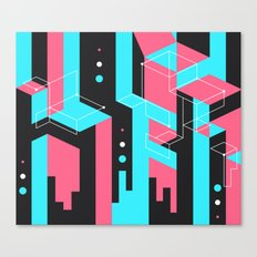Flat Geometry Canvas Print