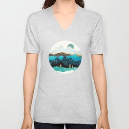 Teal Afternoon Unisex V-Neck