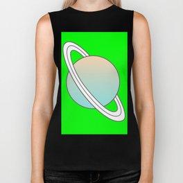 Saturn planet Biker Tank