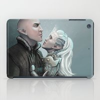dragon age iPad Cases featuring Dragon Age - Solas and Inqusitor by Amber Hague