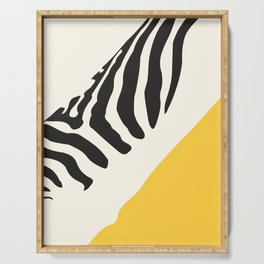 Zebra Abstract Serving Tray