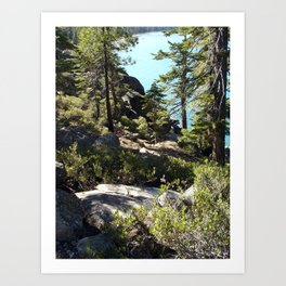 """From Bliss Cliffs to Beach On Tahoe"" Art Print"
