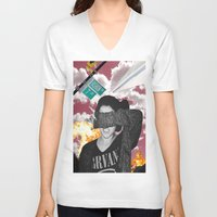 nirvana V-neck T-shirts featuring Personal Nirvana by LittleCarmine
