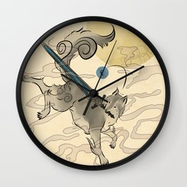 The Great Grey Wolf Sifkami Wall Clock
