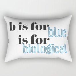 B is for Rectangular Pillow