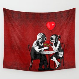 Dating on valentine's night Wall Tapestry