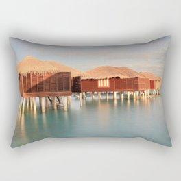 Tropical Maldives Sunrise Beach Bungalows Rectangular Pillow