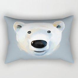 Polar Bear portrait Rectangular Pillow