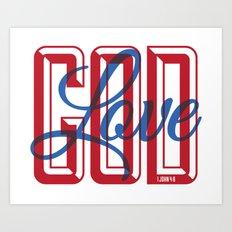 God is Love Art Print
