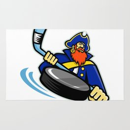 Swashbuckler Ice Hockey Sports Mascot Rug