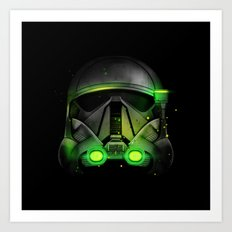 Death Trooper Shadow Art Print