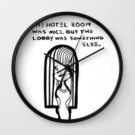 The Hotel Room Wall Clock