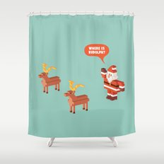 Where is Rudolph? Shower Curtain
