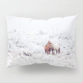 Two Winter Horses Pillow Sham