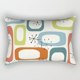Mid Century Modern Shapes 1950s colors  Rectangular Pillow