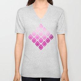 """""""Magenta Pink Damask Pattern"""" Unisex V-Neck"""