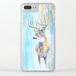 Winter Buck Clear iPhone Case