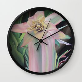 Bromeliad melting Wall Clock