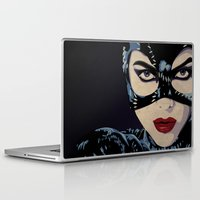 catwoman Laptop & iPad Skins featuring Catwoman by Cassidy Dawn