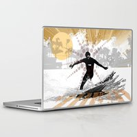 surfer Laptop & iPad Skins featuring surfer by michael cheung