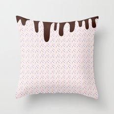 Pink Sprinkles Choc Top Throw Pillow