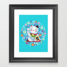 My lucky Kitty Framed Art Print