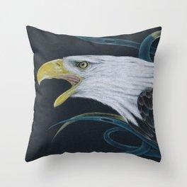 Eagle Colored Pencil Art Throw Pillow