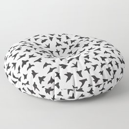Flock of Birds // black Floor Pillow