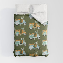 Vespa - green  Comforters