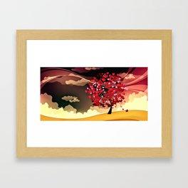 Herzbaum Framed Art Print