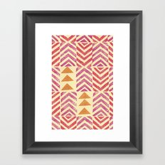 Chevron Stamps Framed Art Print