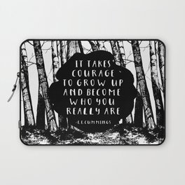Courage (Designed for The YA Chronicles) Laptop Sleeve