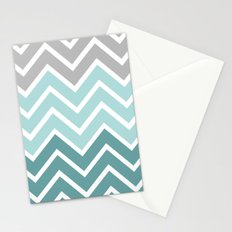 THIN BLUE FADE CHEVRON Stationery Cards