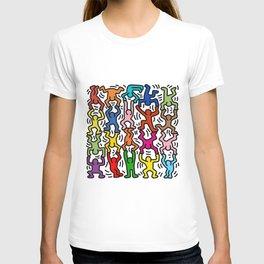 Homage to Keith Haring Acrobats II T-shirt