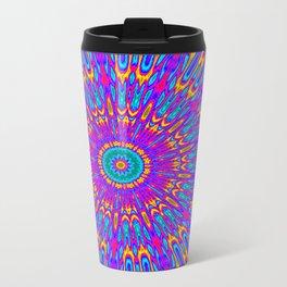 Happy Colors Explosion Psychedelic Mandala Travel Mug