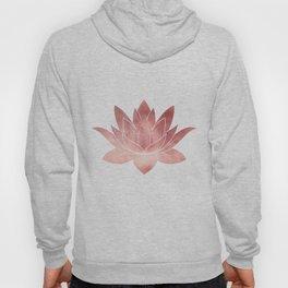 Pink Lotus Flower | Watercolor Texture Hoody