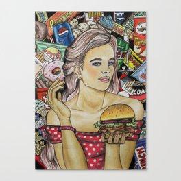 Unhealthy Canvas Print