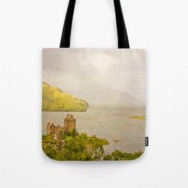 Eilean Donan Textured Tote Bag